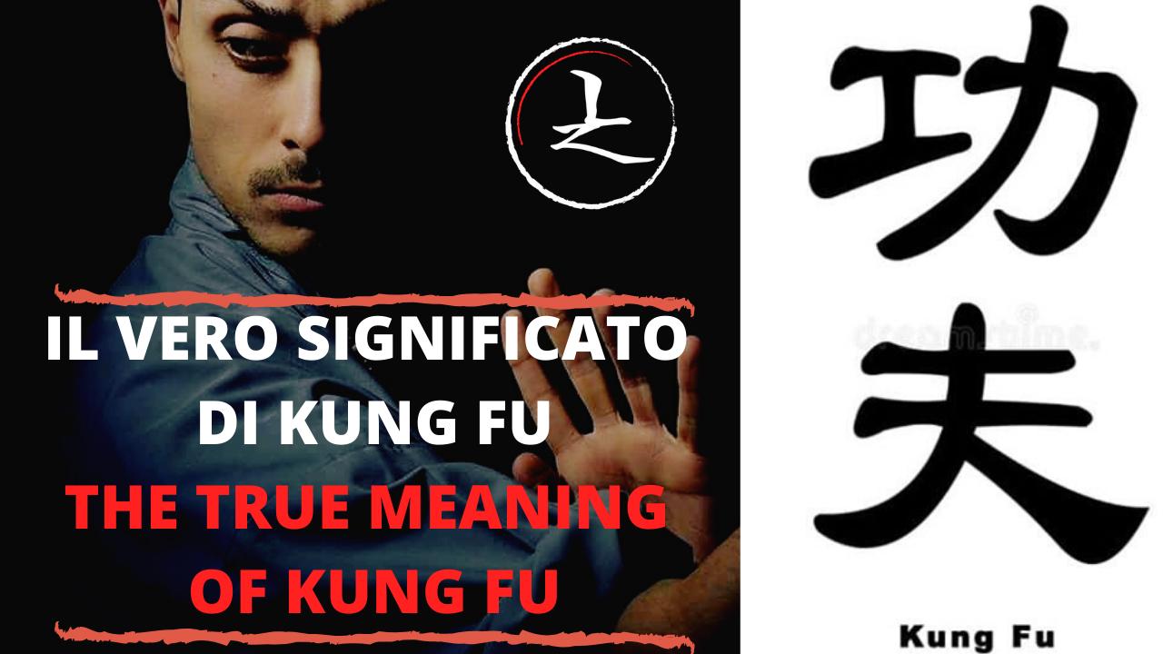 Conosci il VERO significato di Kung Fu ?